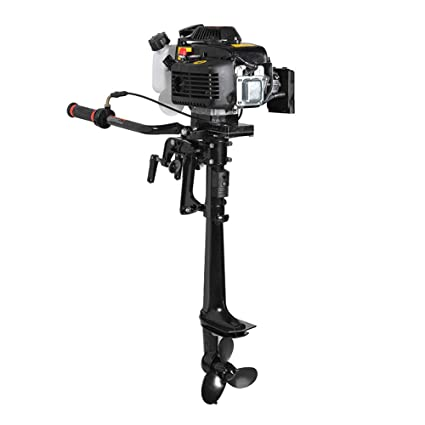 Enshey 3 6HP Outboard Motor 4 Stroke Inflatable 55CC Fishing Boat Engine  with Air Cooling System - for Inflatable Boats, Fishing Boats, Sailboats,  and