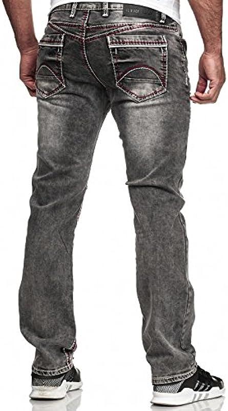 Kc-1981 Code47 męskie dżinsy spodnie męskie, spodnie dżinsowe Washed Designer Denim Denimjeans Straight Cut Regular Fit Stretch Basic Stretch: Odzież