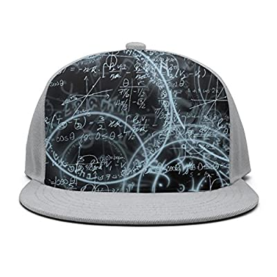 Trum Namii Unisex Fitted Cap Math Equations Graphic Snapback for Women
