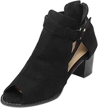 Ladies peep toe leather cut sandal with side zipper.size 6,6.5,7,7.5,8,8.5,9,10