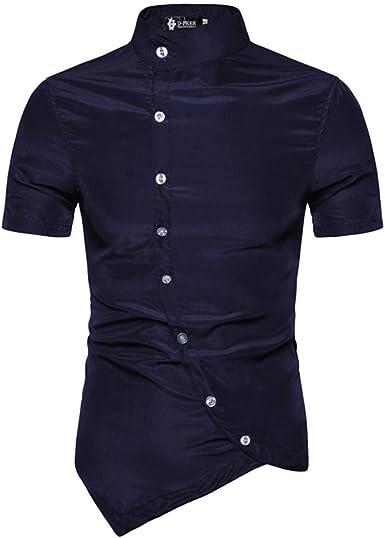 Beaty and Nice - Camisa para Hombre con asimétrica de Verano ...