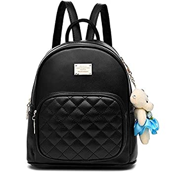 Amazon.com: Cute Mini Leather Backpack Fashion Small