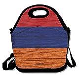 Wooden Texture Armenian Flag Lunch Bag I