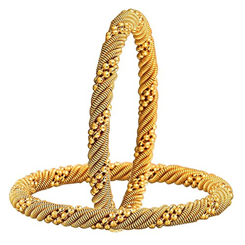 YouBella Traditional Gold Plated Bangles for Women (2.6)