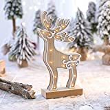 fine patio gazebo design ideas NEARTIME LED Light Cute Christmas Elk Ornaments Window Holiday Decoration Adornment (Free Size, A)