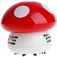 VANKER Mini Champignon Aspirateurs Vide Balayeuses de Nettoyage de Table(Rouge)