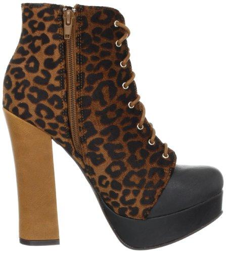 C Etichetta Womens Artie-6 Boot Marrone / Nero