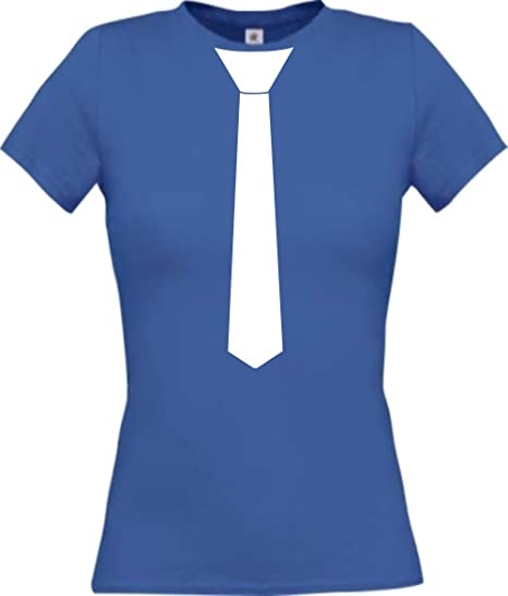 Shirtinstyle Camiseta para Mujeres con Corbata Diversión Carnaval ...