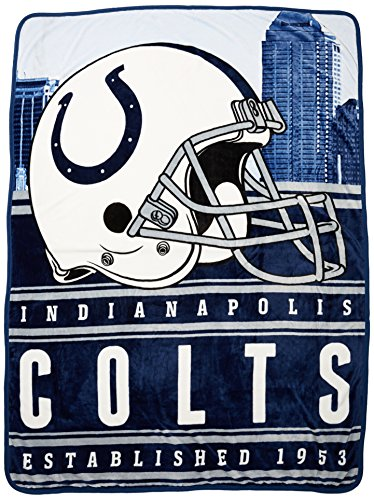 NFL Indianapolis Colts Stacked Silk Touch Throw, 60
