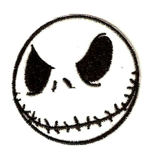 Nightmare Before Christmas Jack Skellington Head 3 Inch Wide Iron On Patch