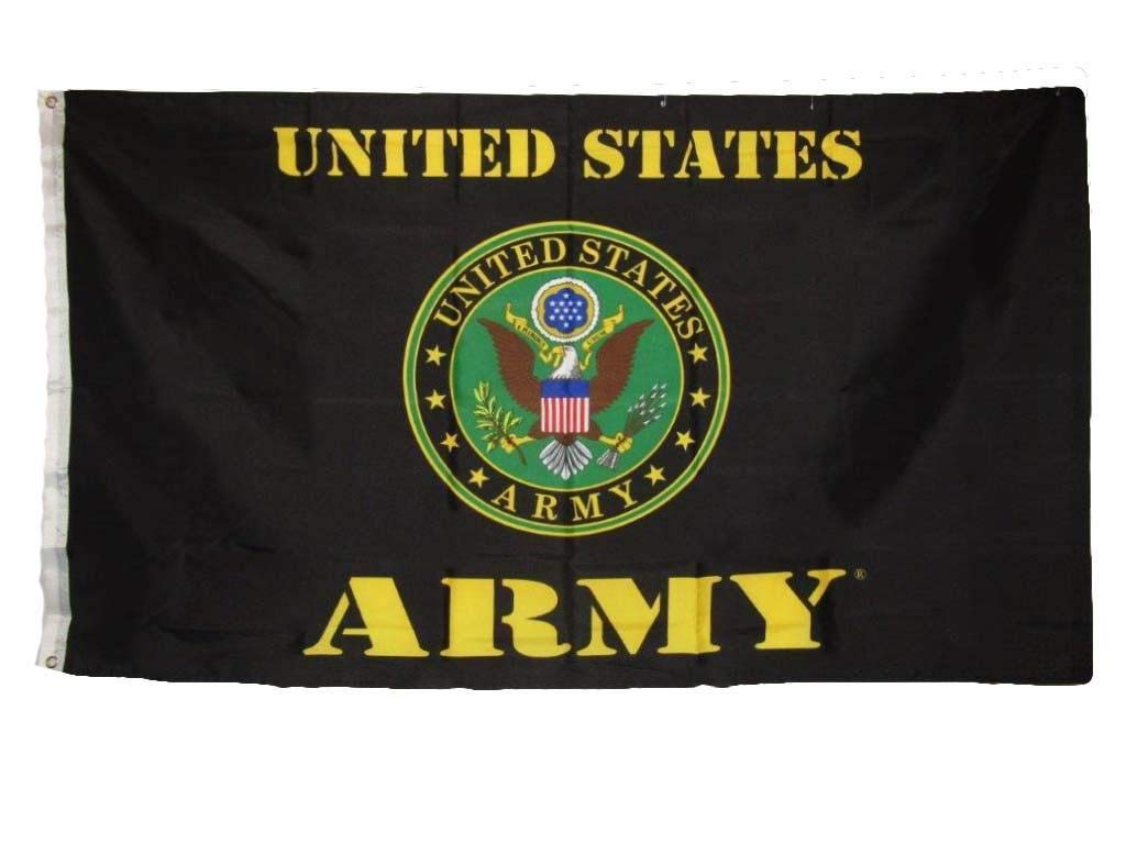 ALBATROS 3 ft x 5 ft Army Emblem Seal Flag United States Military Banner US Pennant New (EE) for Home and Parades, Official Party, All Weather Indoors Outdoors by ALBATROS