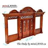 The Duke - Quality wooden storefront facade 1:12 scale roombox dollhouse miniature walnut