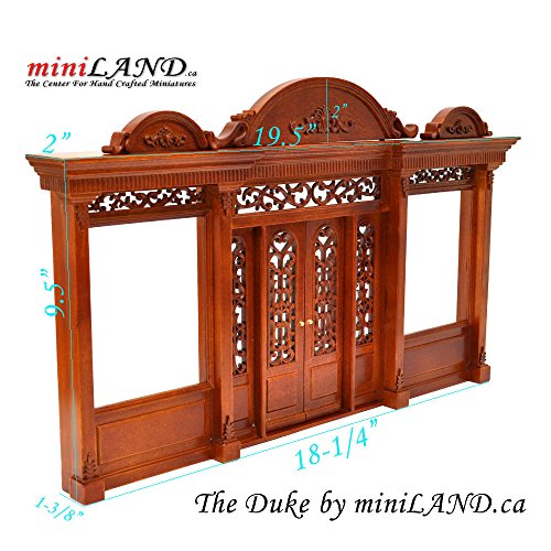 The Duke - Quality wooden storefront facade 1:12 scale roombox dollhouse miniature walnut by miniLAND - The Center for Hand Crafted Miniatures