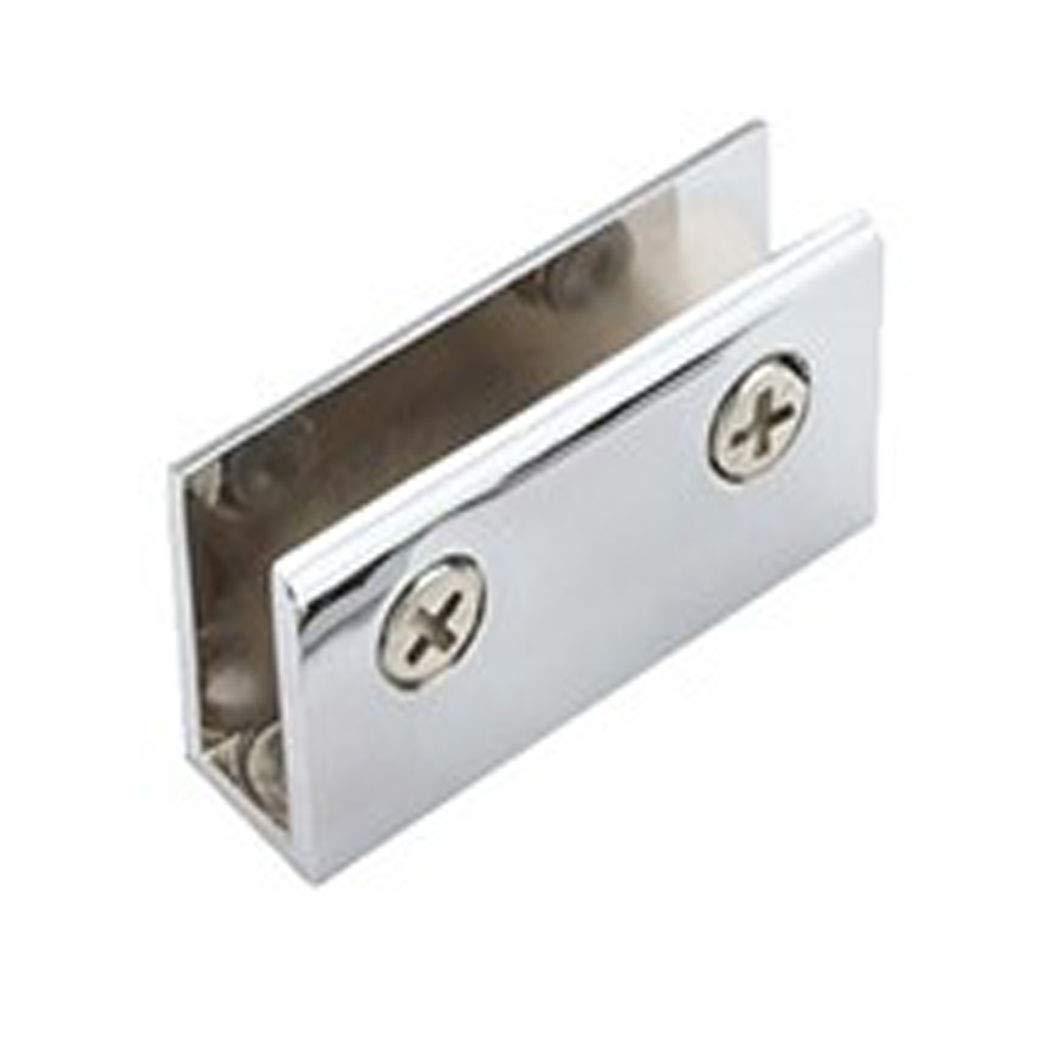 "Chrome Clamp Glass Shelf Brackets Shower Glass Holder Shelves for 0.24'' to 0.39"" Glass(Pack of 8)"