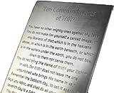 10 Commandments Engraved on Solid Brass, Ten Commandments, Mezuzah, Messianic