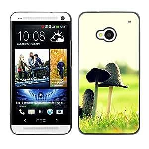"For HTC One ( M7 ) , S-type Planta Naturaleza Forrest Flor 12"" - Arte & diseño plástico duro Fundas Cover Cubre Hard Case Cover"