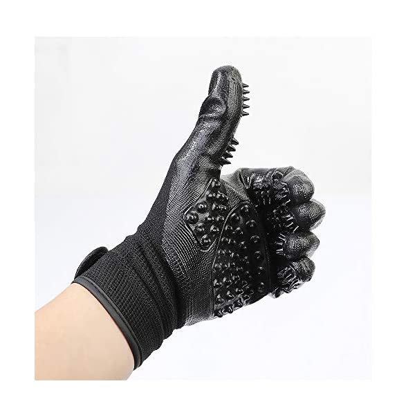 ChuangYe 2Pcs Pet Grooming Glove for Dogs Cats and Horses Pet Hair Remover and Massage Glove 3