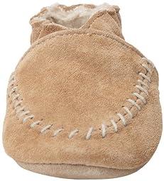 Robeez Cozy Moccasin Crib Shoe (Infant), Taupe, 6-12 Months M US Infant