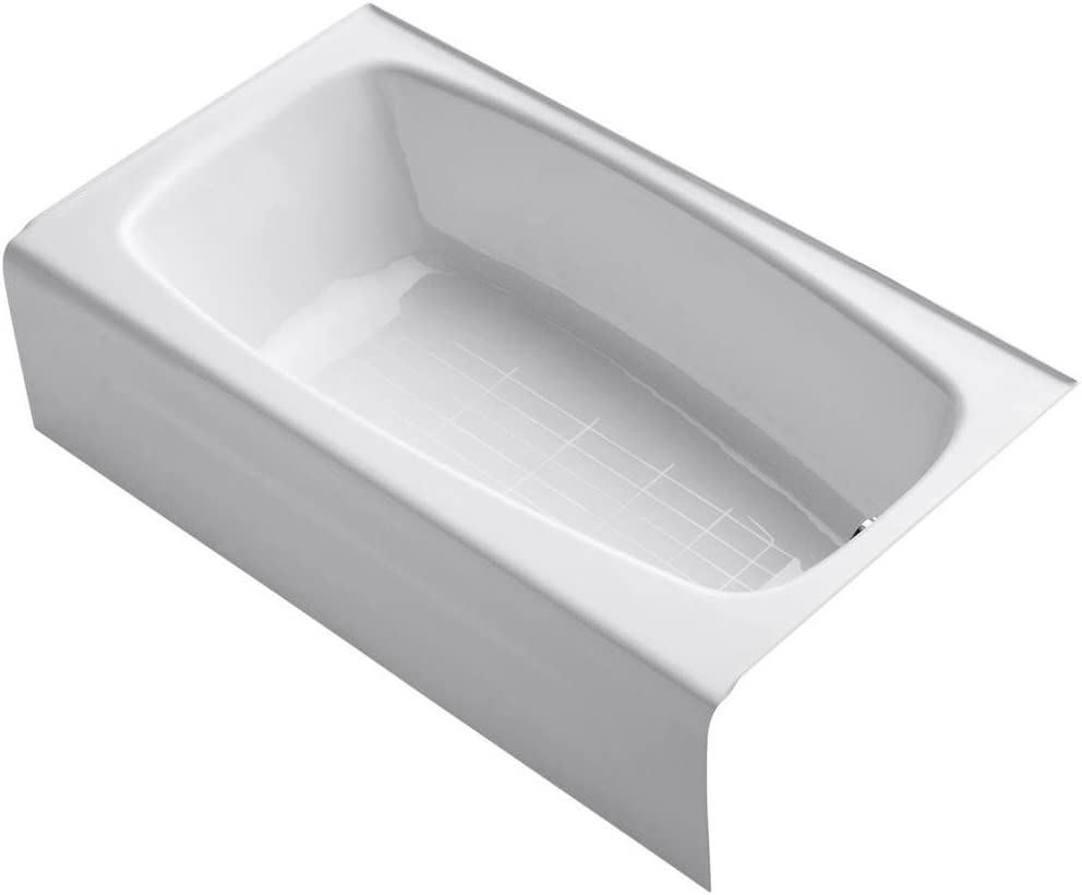 KOHLER K-746-0 Seaforth Bath with Right-Hand Drain, White