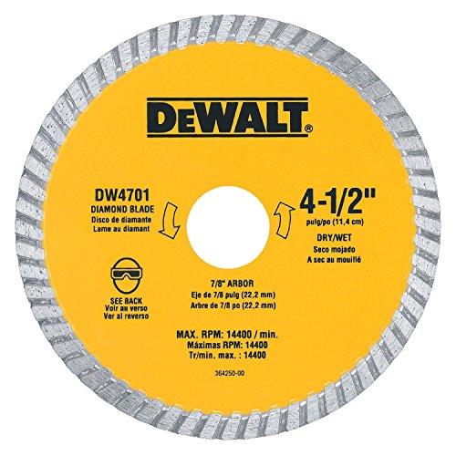 Dewalt DW4701 4.5 inch Dry Cut Diamond Masonry Circular Saw Blades