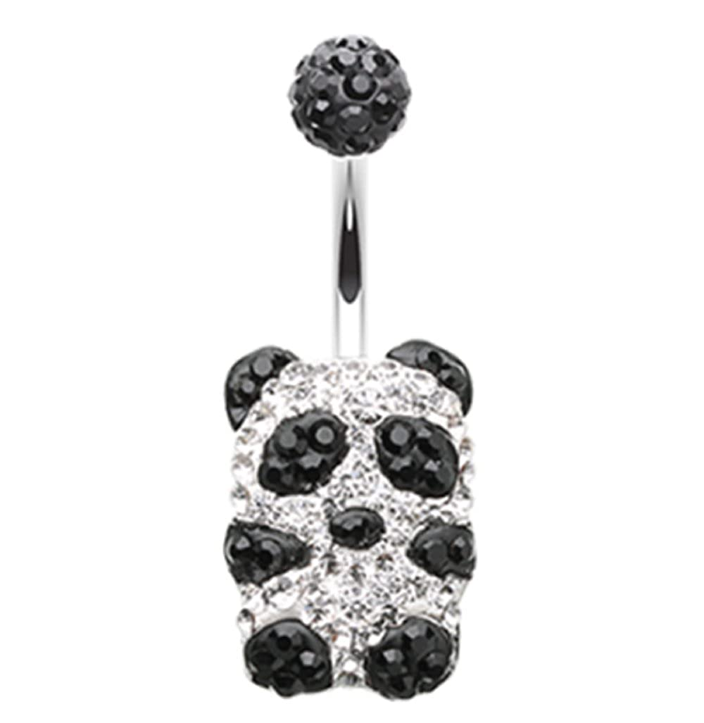 Sold by Piece Freedom Fashion Baby Owl Sparkle 316L Surgical Steel Belly Button Ring