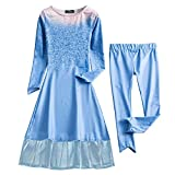 BKSKK Girls Frozen Elsa Anna Costume Cosplay Party Princess Fancy Dress Crown Gift