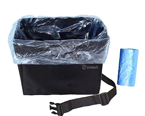 Car Garbage Can Litter Bag- Zone Tech Waterproof Interior Headrest- Trash Bag Traveling Seatback Adjustable- Litter Can Lining Removable Storage Kids Toys!