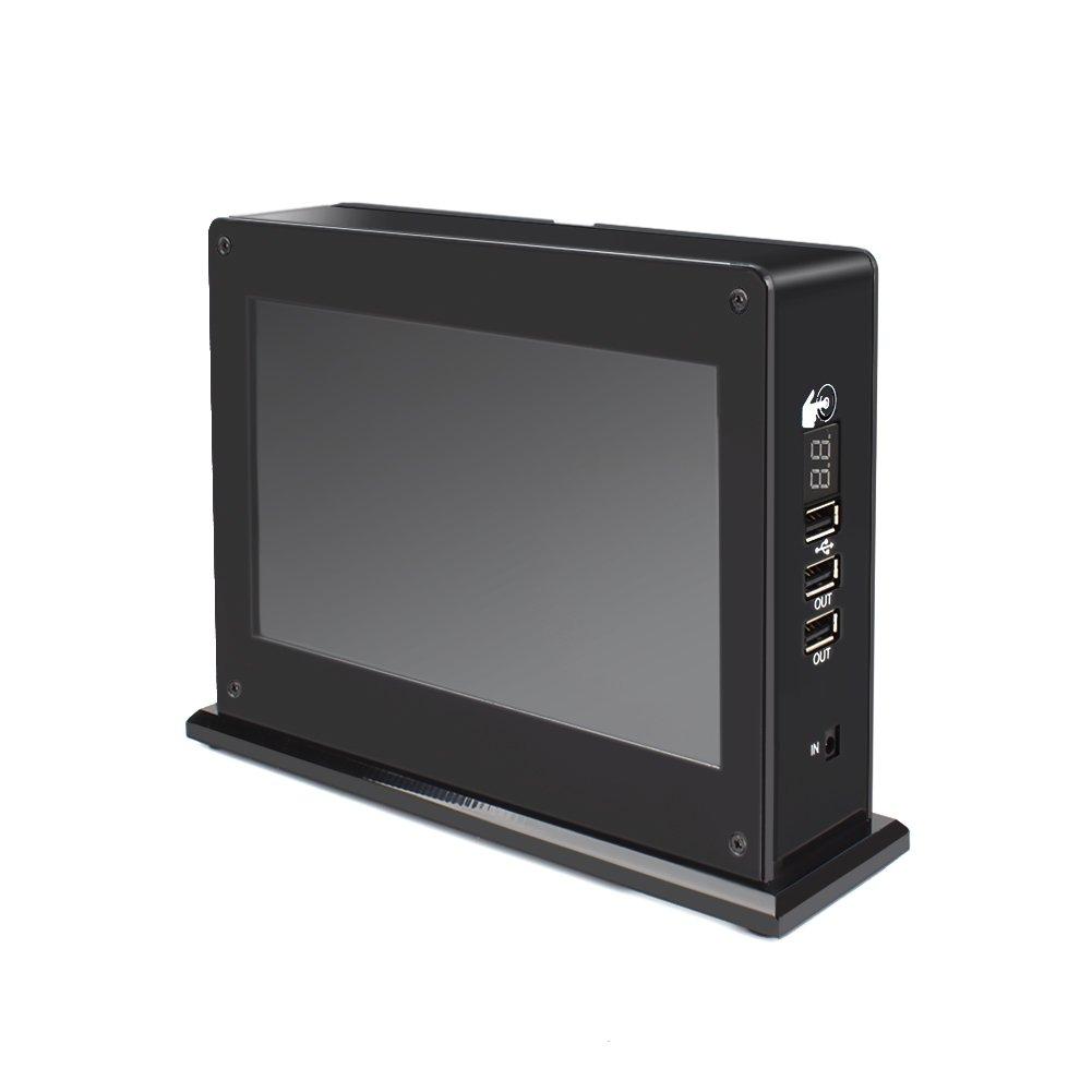 Eachbid HD LCD Advertising Board, 20000mAh Power Bank with 3 USB Charging Ports, 6 inch Desktop Digital Picture Frame & 8GB Memories, Handy for Restaurant, Café, Bar, Business