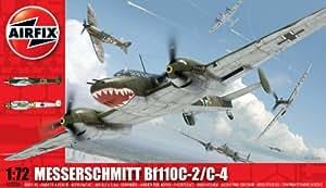 Airfix - Kit de modelismo, avión Messerschmitt Bf110C/D, 1:72 (Hornby A03080)