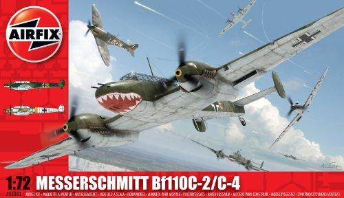 Airfix A03080 Messerschmitt Bf110C/D 1:72 Scale Military Aircraft Series 3 Model Kit