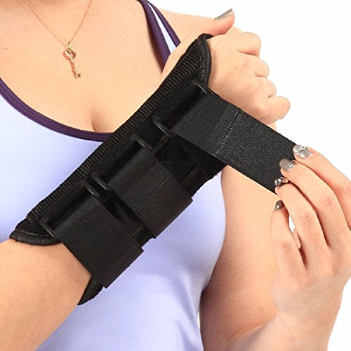 Wrist Support Brace - Comfortable and Durable Thumb and Finger Hand Wrap for Men or Women with Sprains, Carpal Tunnel Syndrome & Muscle Strain - Relieves Pain & Better Sleep (Large, Right)