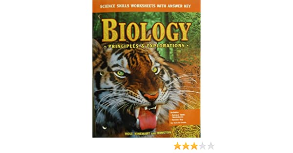 Biology Principles Explorations Science Skills Worksheets With