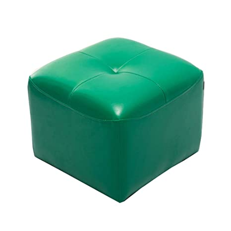 Super Amazon Com Simple Creative Stool Ottoman Square Leather Andrewgaddart Wooden Chair Designs For Living Room Andrewgaddartcom