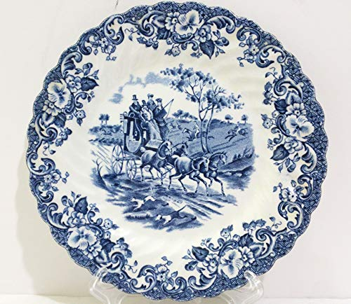 (Johnson Brothers Blue Coaching Scenes Bread & Butter Plate Set of 4)