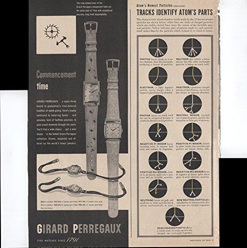 Girard Perregaux Fine Watches Since 1791 Commencement Time Rockefeller Plaza New York 1950 Vintage Antique Advertisement