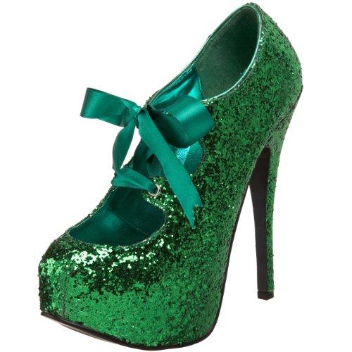 Bordello - Zapatos de vestir para mujer Green Gltr