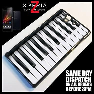 Generic para Sony Xperia Z, teclas música Cool teléfono teclado de Piano Quirky funda 6049 - negro: Amazon.es: Electrónica