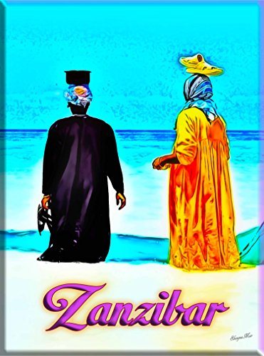 Zanzibar Island Tanzania East Africa African Travel advertisement Art Poster Print. Measures