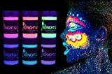 Best Glow In The Dark Body Paints - Midnight Glo Metallic Body Paint Face Makeup Body Review