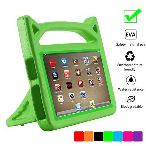 F i r e 7 2015 Case,F i r e 7 Case 2017,SNOW WI Case Shockproof Light Weight Drop Protection Children EVA Case Cover for A m a z o n F i r e 7 inchTablet (5th Gen 2015 / 7th Gen 2017) (2-Green) ()