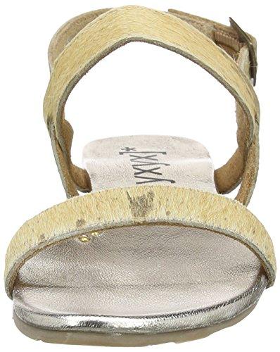 xyxyx Sandal - Sandalias de tobillo Mujer Oro