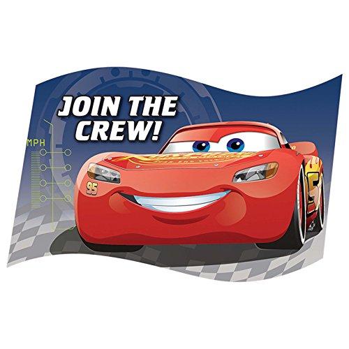 Disney Cars Birthday Party Invitations - Disney Cars 3 Invitations (8)