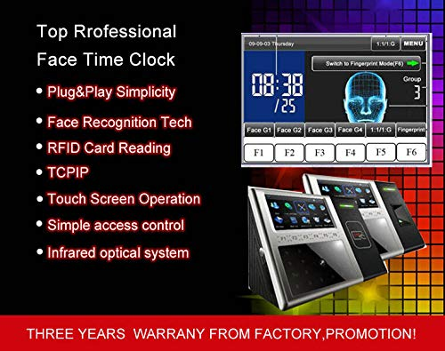 FidgetKute Facial+RFID Read Multi-biometric Time Attendance Clock+Access Control Terminal Show One Size by FidgetKute