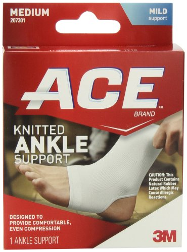 ACE Knitted Ankle Support, Medium (Pack of 2) (Ace Ankle Support)
