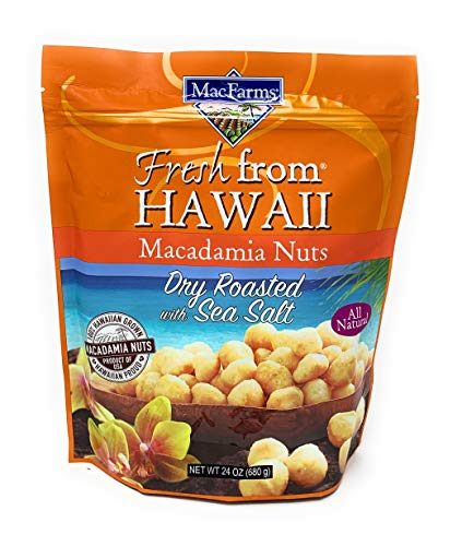 Coffee Salt Classic - MacFarms Dry Roasted Macadamia Nuts With Sea Salt Fresh From Hawaii 24 Ounce
