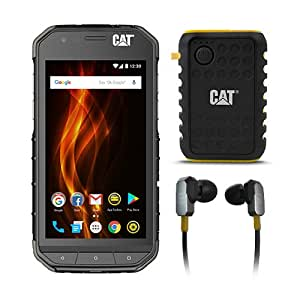 CAT PHONES S31 Rugged Waterproof Smartphone with ACTIVE URBAN Rugged Earphones and Power Bank
