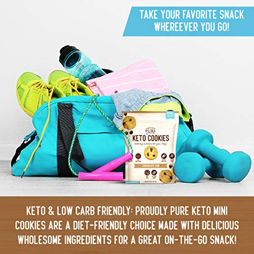 Proudly Pure Mini Bite Size On the Go 3 Pack Keto Cookie Chocolate Chip Snacks - Healthy Low Carb, Diet Friendly, Tasty and Delicious Gluten Free Food Treats Made With Real All Natural Ingredients 4