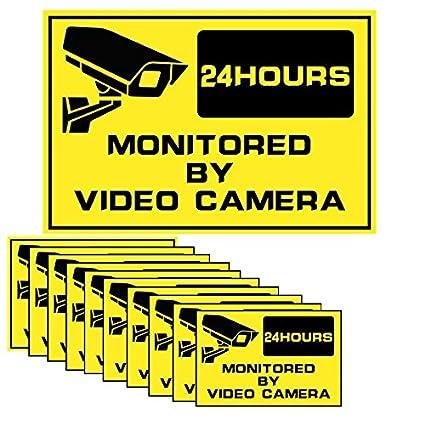 Fuers - Lote de 10 pegatinas dissuasifs alarma - Monitoreo ...