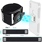 LOVPHONE Phone Running Armband, Sport Exercise Armband with Magnetic Quick Installation and Two Size Adjustable Velcro Straps for iPhone X/8/8 Plus/7/7 Plus/6/6s, Samsung Note 8/S8/S7 Edge