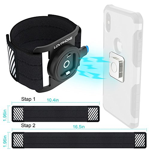 super popular 27410 66442 LOVPHONE Phone Running Armband, Sport Exercise Armband with Magnetic Quick  Installation and Two Size Adjustable Velcro Straps for iPhone X/8/8 ...